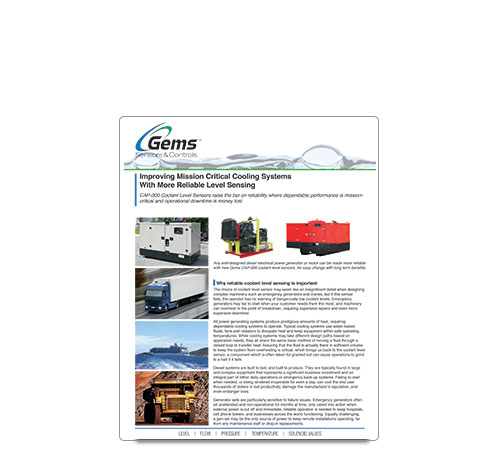 Cooling System with Level Sensing White Paper