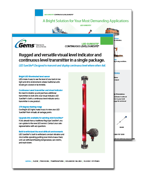 Gems Sensors LED SureSite Product Guide